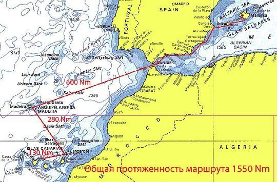 Яхтенная экспедиция Майорка-Тенерифе, октябрь – ноябрь 2008