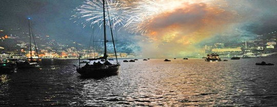 Фестиваль огня в Рикко 7-14 сентября 2013. Маленькая флотилия.