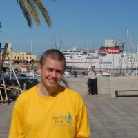 Наша марина и где то там в далеке Гибралтар